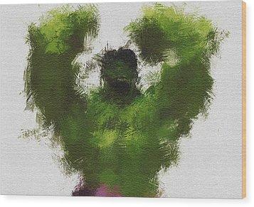 Smashing Green Wood Print by Miranda Sether