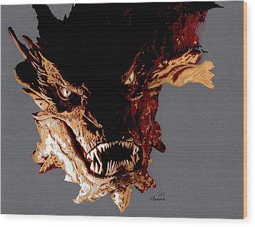 Smaug The Terrible Wood Print by Kayleigh Semeniuk
