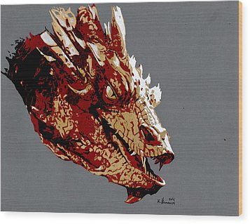 Smaug The Unassessably Wealthy Wood Print by Kayleigh Semeniuk