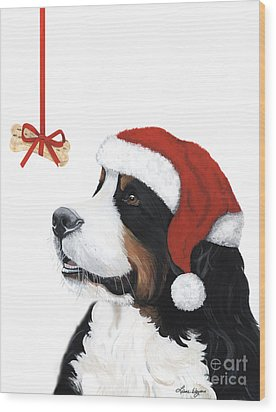 Smile Its Christmas Wood Print by Liane Weyers