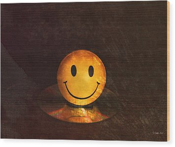 Smile Wood Print by Peter Chilelli