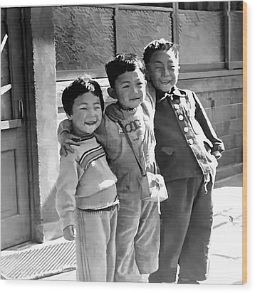 Smiles From Korea Year 1955 Wood Print