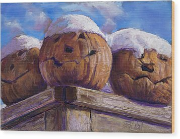 Wood Print featuring the pastel Smilin Jacks by Billie Colson