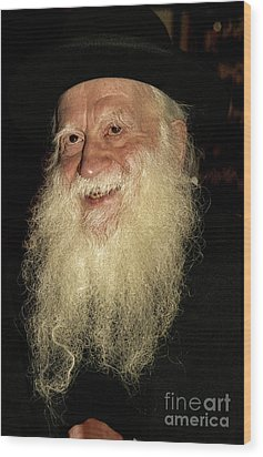 Wood Print featuring the photograph Smiling Picture Of Rabbi Yehuda Zev Segal by Doc Braham