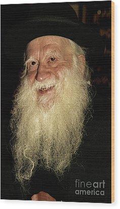 Smiling Picture Of Rabbi Yehuda Zev Segal Wood Print