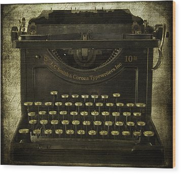 Smith And Corona Typewriter Wood Print