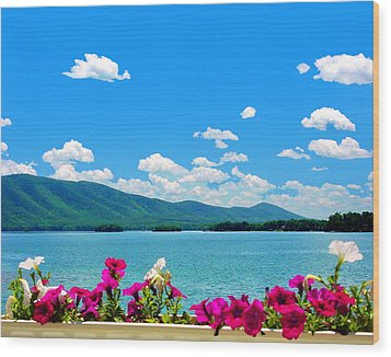 Smith Mountain Lake Grand View Wood Print by The American Shutterbug Society