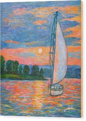Smith Mountain Lake Wood Print