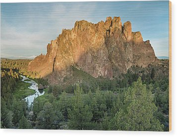 Wood Print featuring the photograph Smith Rock First Light by Greg Nyquist