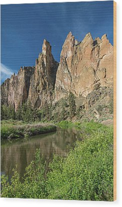 Wood Print featuring the photograph Smith Rock Spires by Greg Nyquist