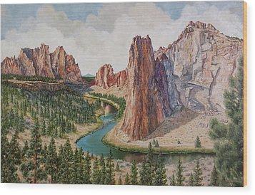 Smith Rocks Wood Print