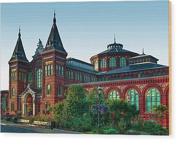 Smithsonian's Arts And Industries Building Wood Print