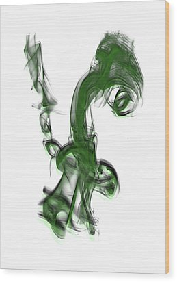 Smoke 01 - Green Wood Print