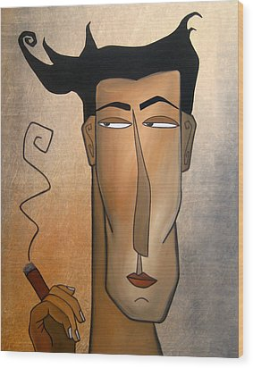 Smoke Break Wood Print