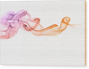 Wood Print featuring the photograph smoke IV by Joerg Lingnau