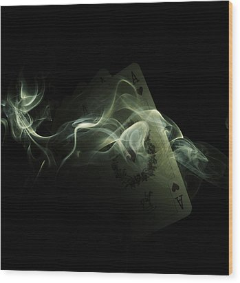 Smoke Wood Print by Ivan Vukelic