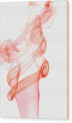 Wood Print featuring the photograph smoke IX by Joerg Lingnau