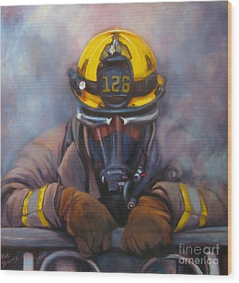 Smoke Jumper 126 Wood Print by Pat Burns
