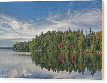 Smoke Lake Wood Print by Irwin Seidman