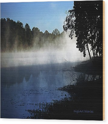 Smoke On The Water Wood Print by DigiArt Diaries by Vicky B Fuller