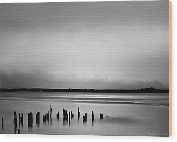 Smoke On The Water Wood Print by Wallaroo Images