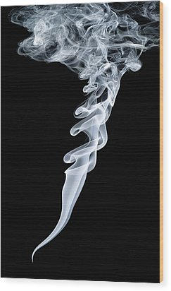 Smoke Patterns Wood Print by Paul Rapson