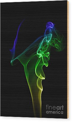 smoke XIV Wood Print by Joerg Lingnau