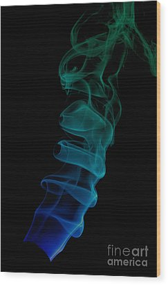 smoke XIX ex Wood Print by Joerg Lingnau
