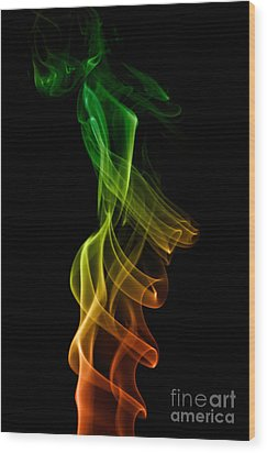 smoke XXII Wood Print by Joerg Lingnau