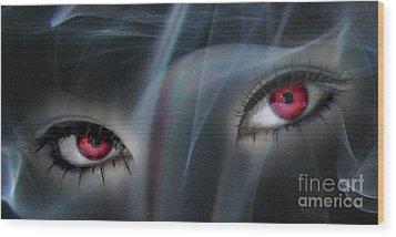 Smokey Eyes Wood Print