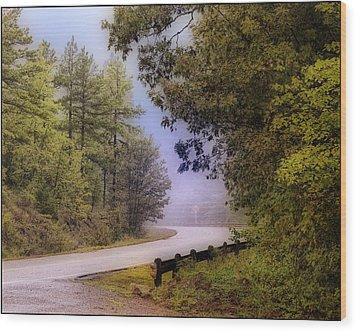 Smokey Mountain Road Wood Print by Shirley Dawson