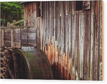Smokies Mill Wood Print by Andrew Soundarajan