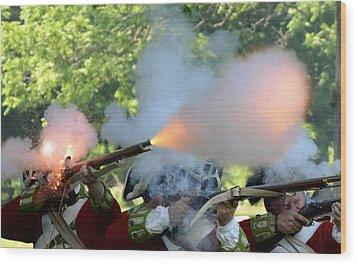 Smoking Guns Wood Print