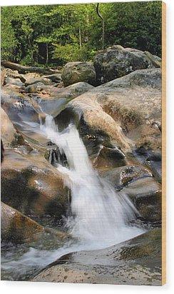 Smoky Mountain Flow Wood Print by Kristin Elmquist