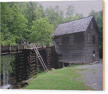 Smoky Mountain Mill Wood Print by CGHepburn Scenic Photos