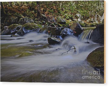Wood Print featuring the photograph Smoky Mountain Stream by Douglas Stucky