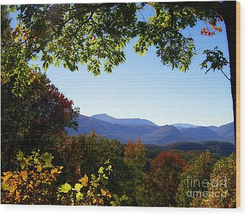 Smoky Mountains Wood Print by Lena Auxier
