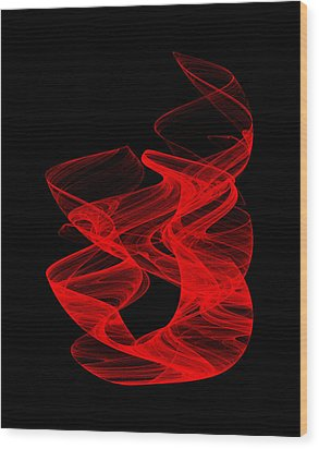 Smoldering Rise I Wood Print