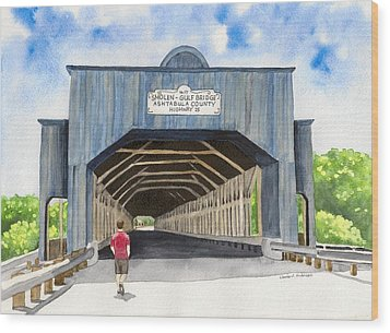 Smolen-gulf Bridge Wood Print