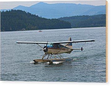 Smooth Landing On Lake Coeur D'alene Wood Print by Jo Sheehan