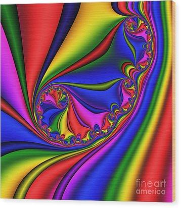 Smoothly Curly 199 Wood Print by Rolf Bertram