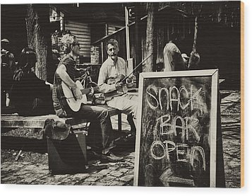 Snack Bar Open Wood Print by Bill Cannon