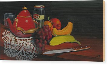 Snack Time Wood Print by Robert Carver
