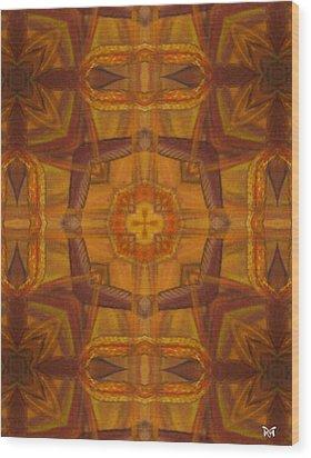 Snake Cross Wood Print