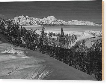 Snake River Overlook-winter Scene 79 Wood Print