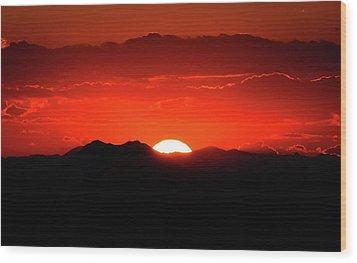 Snake River Plain Sunset Wood Print by Greg Norrell