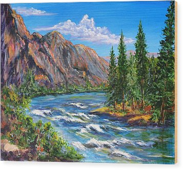 Snake River Wood Print by Thomas Restifo