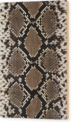 Snake Skin Wood Print by Siede Preis