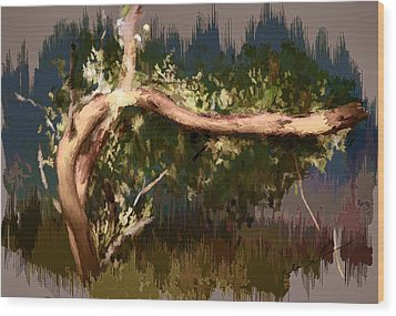 Wood Print featuring the digital art Snake Tree by Dale Stillman