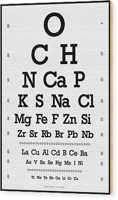 Snellen Chart - Chemical Abundance In Human Body Wood Print by Martin Krzywinski